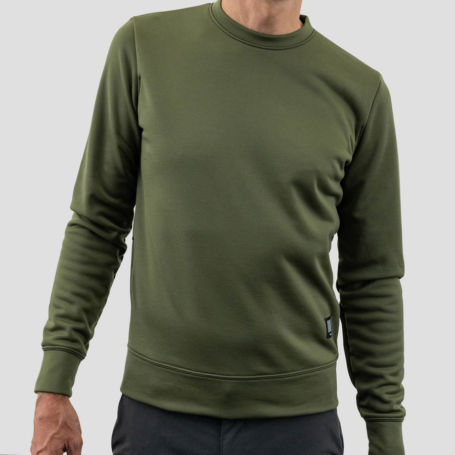 Merino Sweatshirt - Olive - Limited Color
