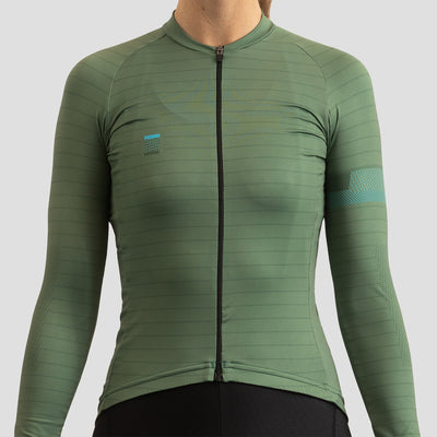 Womens Olive - Long Sleeve Lightweight Jersey