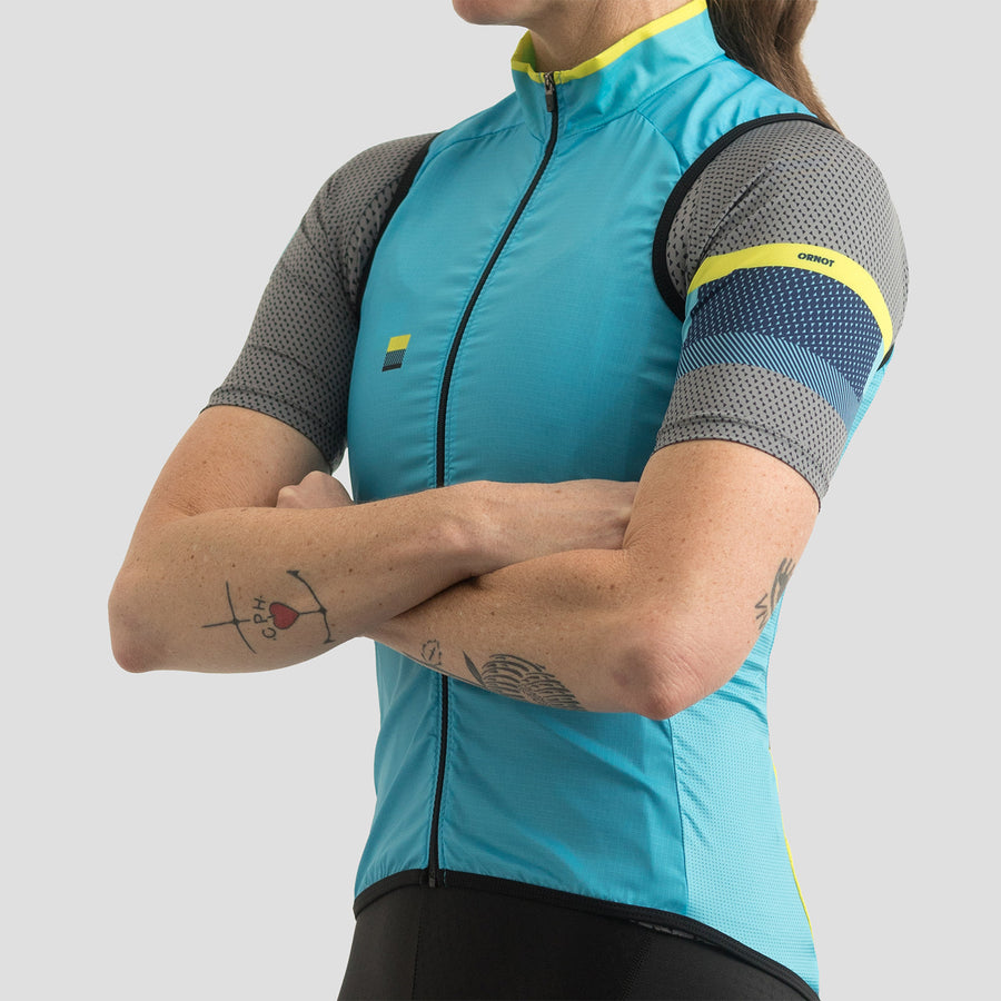 Womens House Wind Vest - Block Blue