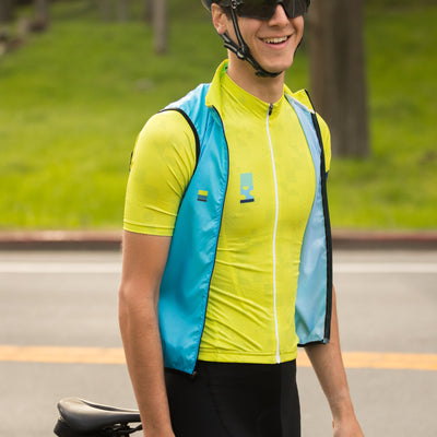 House Wind Vest - Block Blue