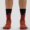 Coastal Bolt Burgundy Sock - Merino