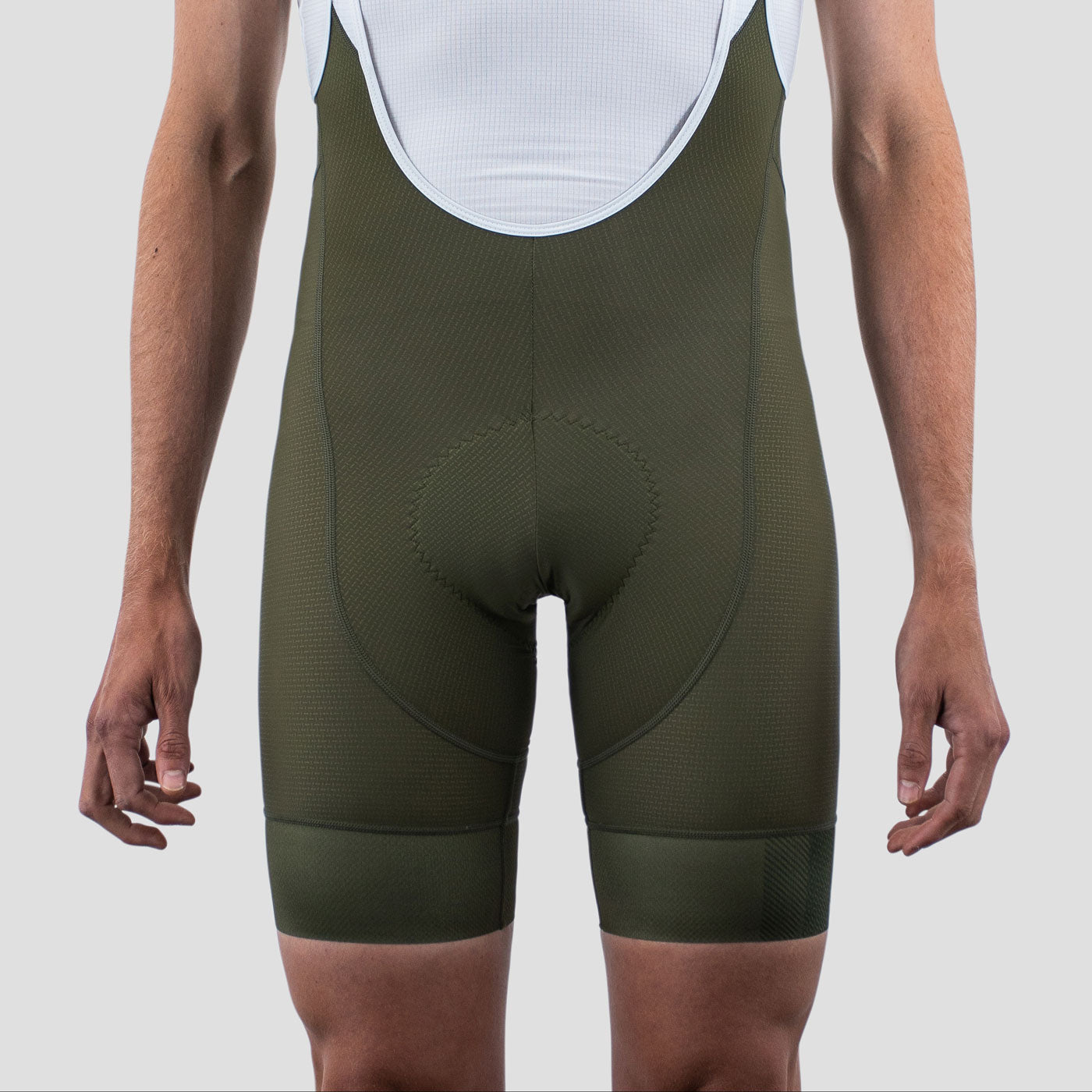 House Bib Shorts - Olive Block (XXL Only)