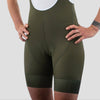 Womens Olive House Bib Shorts - Olive Block