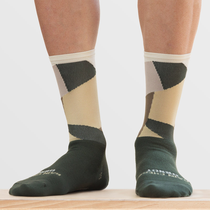 Intersection Olive Drab Sock