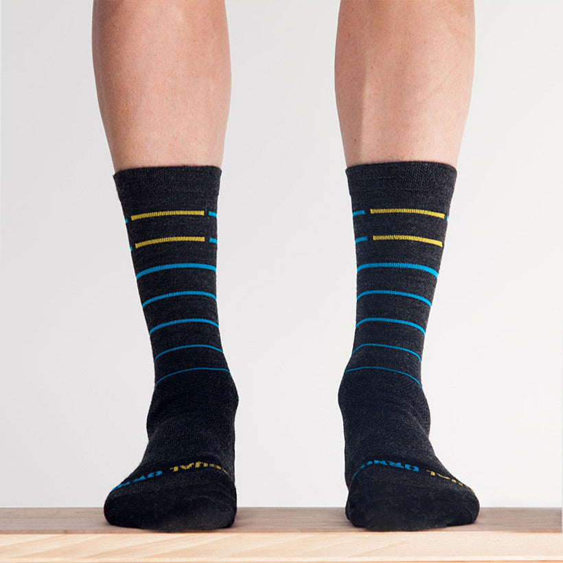 Merino Blue Line Sock - SM and LG only
