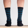 Merino Blue Line Sock