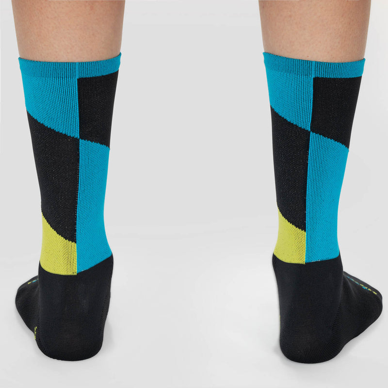 Barber Sock - Charcoal / Blue
