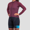 Womens Thermal Jersey - Burgundy (Large only)