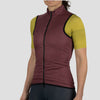 Womens House Wind Vest - Burgundy