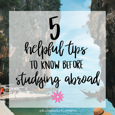 5 Tips to Know Before Studying Abroad