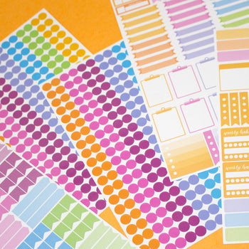 Calendar Coloured Stickers Dots for Year Planner Staff Holiday Project Diary