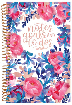 Bound To-Do Book, Blue & Red Floral - IMPERFECT