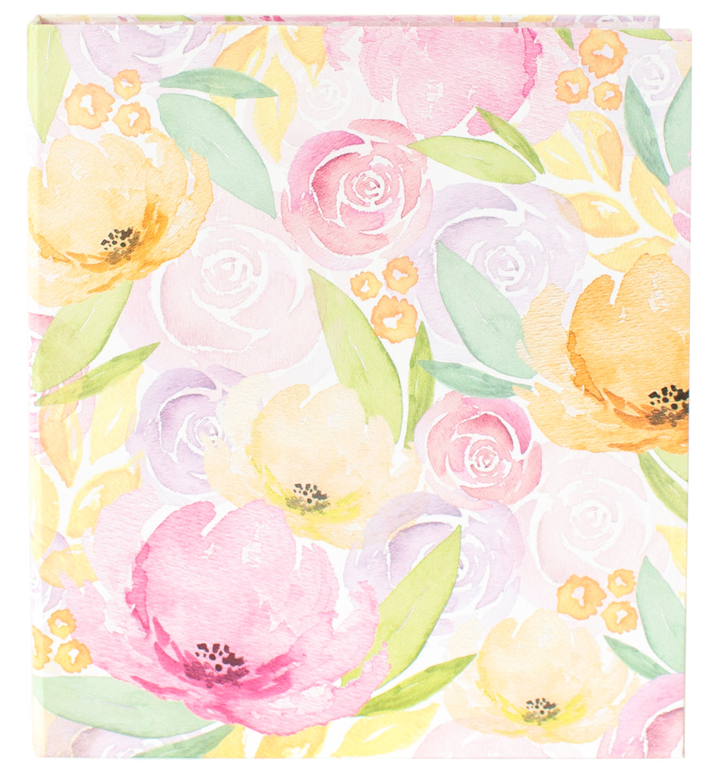 Binder, Watercolor Floral