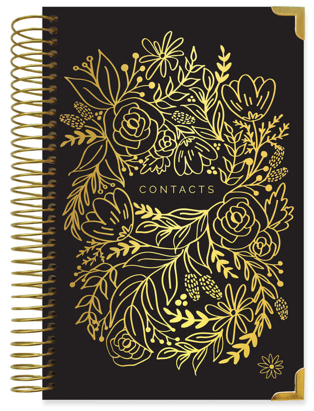 Contact Book, Gold Embroidery 1