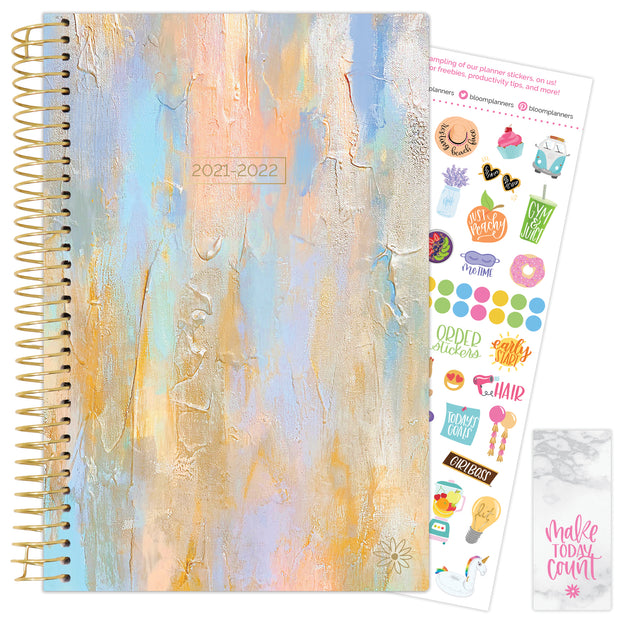 2021-22 Soft Cover Daily Planner & Calendar, Beach Glass