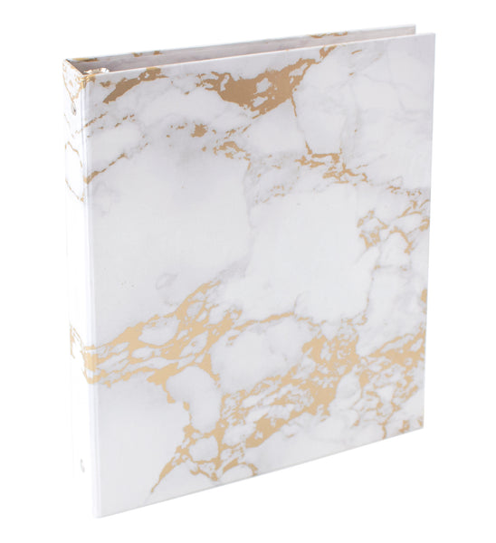 Marble Binder With Gold Foil