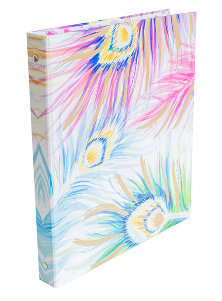 Binder, Peacock Feathers