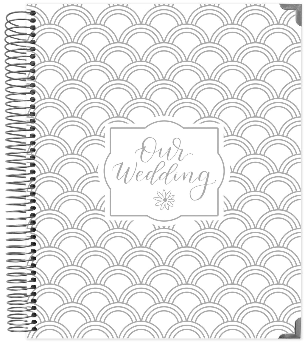 Wedding Planner & Calendar, Silver Scallops