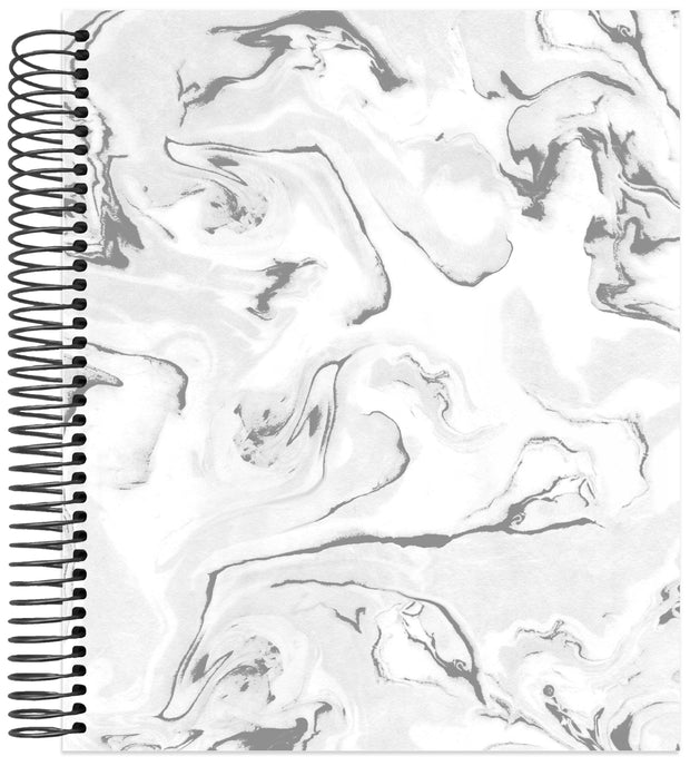 Undated Dot Journaling Planner & Calendar, Marble