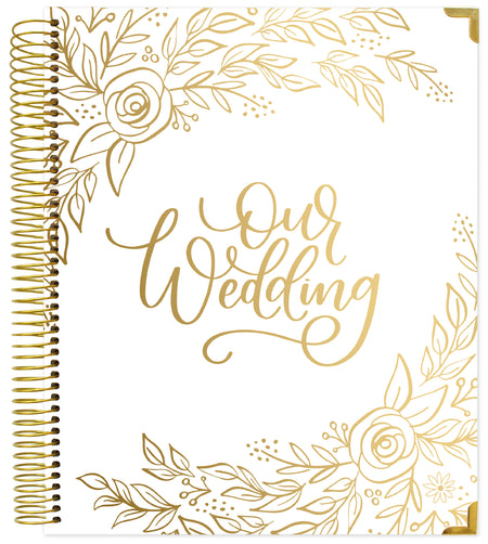 Wedding Planner & Calendar, Gold Floral