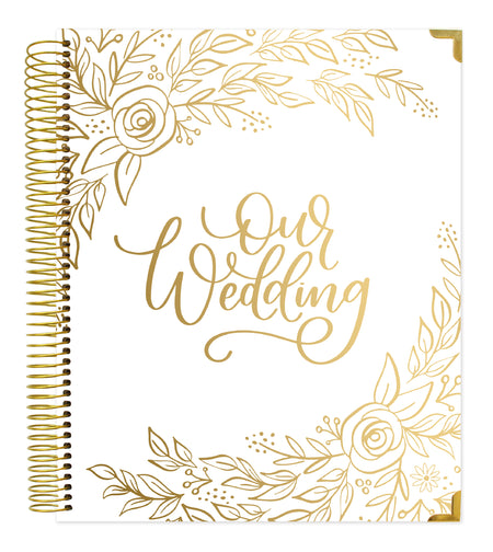 Wedding Planner & Calendar, Gold Floral - IMPERFECT