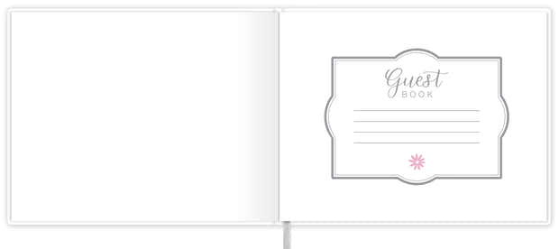 Guest Book / Guest Planner, Silver Floral 1