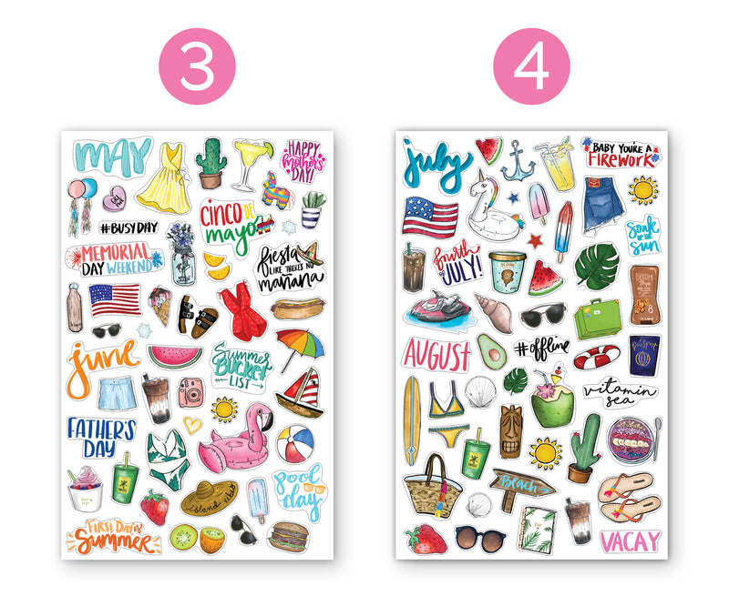 planner sticker sheets  holiday planner decorating