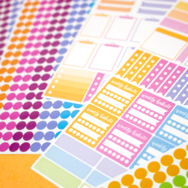 Sticker Sheets, Color Coding Pack
