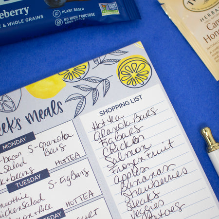 "Meal Planning Pad with Magnets, 6"" x 9"", Lemons"