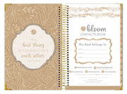 Contact Book, Gold Embroidery - IMPERFECT