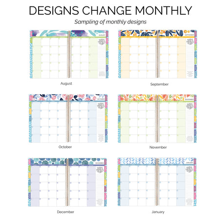 Undated Teacher Planner & Calendar, Learn with Joy - IMPERFECT