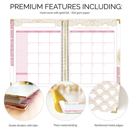 Wedding Planner & Calendar, Gold Scallops Version 2 - IMPERFECT