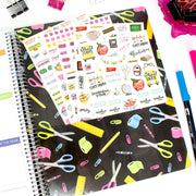 Undated Teacher Planner & Calendar, Chalkboard
