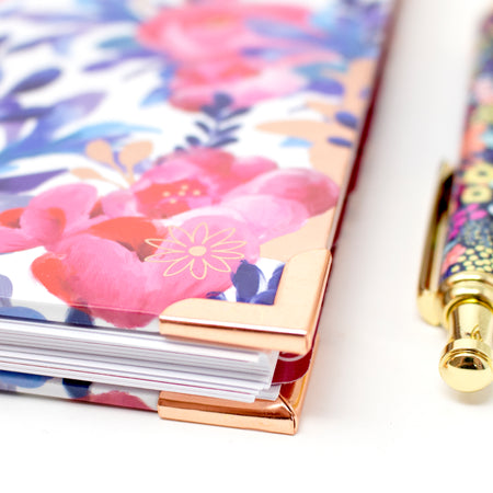 Contact Book, Red & Blue Floral