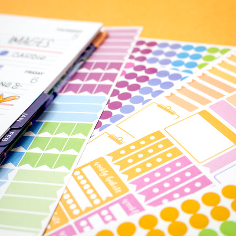 Sticker Sheets, Color Coding Pack - PRE-ORDER SHIPS BY 7/1