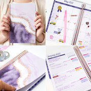 2021-22 Soft Cover Daily Planner & Calendar, Lavender Daydream