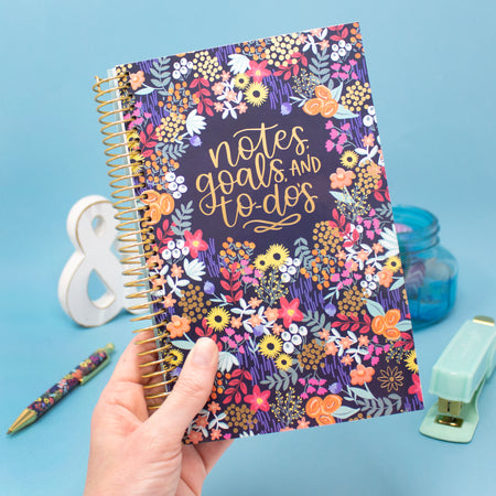 Bound To-Do Book, Floral Dots - IMPERFECT