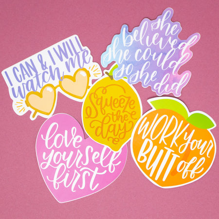 Vinyl Sticker Set, Motivation Pack