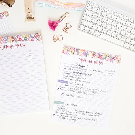 "Meeting Notes Planning Pad, 8.5"" x 11"""