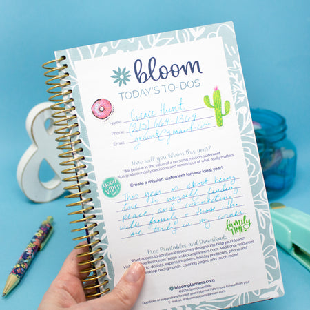 Bound To-Do Book, Floral Dots