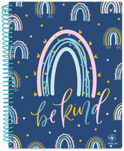 2021-22 Soft Cover Daisy Academic Student Planner & Calendar, Navy Rainbows