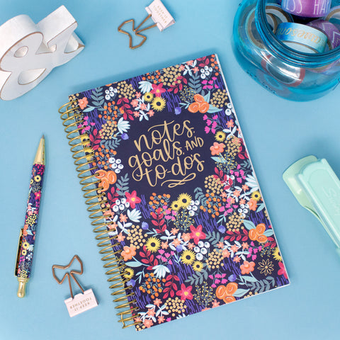 Bound To-Do Book, Floral Dots - PRE-ORDER SHIPS BY 7/1