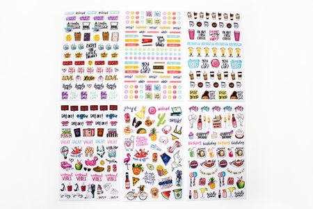 Sticker Sheets, Classic Planner Stickers