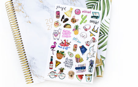 Sticker Sheets, Holiday Planner Stickers Version 2