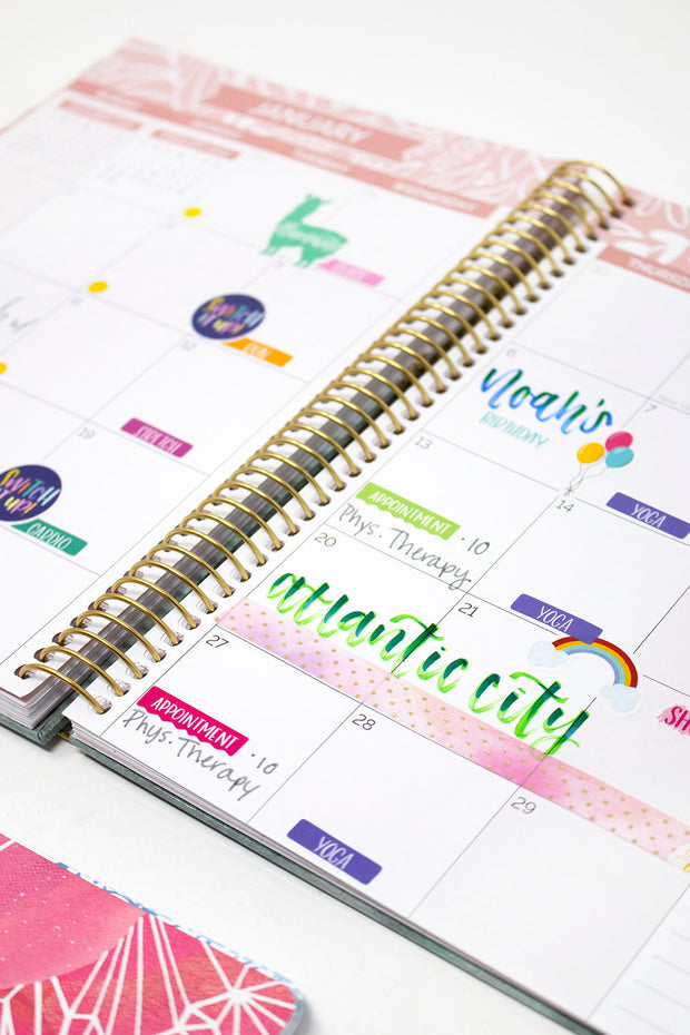 2021-22 Hard Cover Vision Planner & Calendar, Daydream Believer