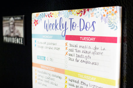 "Weekly To-Dos with Magnet, 6"" x 9""-IMPERFECT"