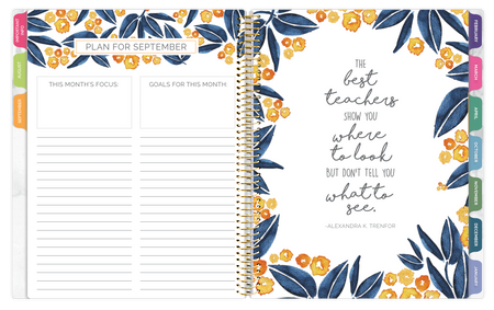 Undated Teacher Planner & Calendar, Marble