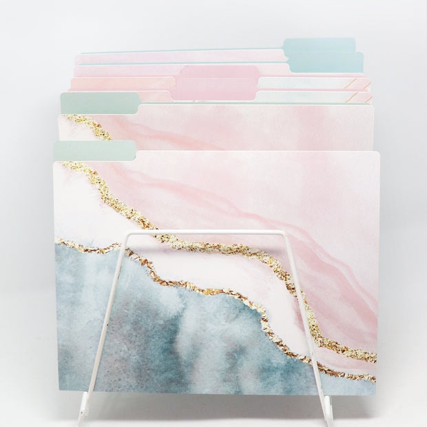 File Folder Set, Ethereal Marble