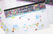 "2021-22 Mini Academic Desk & Wall Calendar, 11"" x 17"", Seasonal"