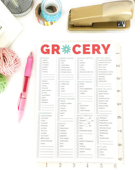 "Grocery List Planning Pad, 6"" x 9"" - IMPERFECT"